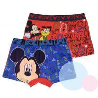Boxerky Mickey 2ks , Barva - Modro-červená , Velikost - 122/128