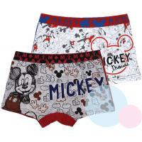 Boxerky Mickey 2ks , Barva - Bílo-šedá , Velikost - 122/128