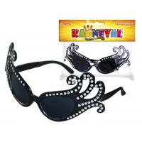 Brýle karnevalové Lady G , Barva - Čierna