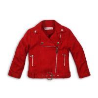 Bunda Biker , Velikost - 104 , Barva - Červená