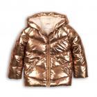 Bunda Puffa metalická , Velikost - 98/104 , Barva - Zlatá