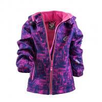Bunda softshellová , Velikost - 134 , Barva - Růžovo-fialová