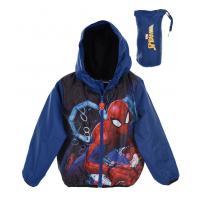 Bunda Spiderman , Barva - Tmavo modrá , Velikost - 98
