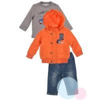 Bunda, tričko a nohavice Mickey , Barva - Oranžová , Velikost - 68