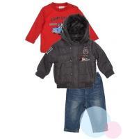 Bunda, tričko a nohavice Mickey , Barva - Antracitová , Velikost - 68