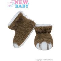 Topánočky New Baby Dino , Velikost - 68 , Barva - Hnedá