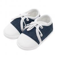 Capáčky tenisky New Baby jeans , Velikost - 62 , Barva - Bielo-modrá