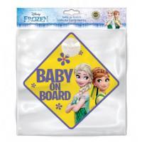 Ceduľka s prísavkou Dieťa v aute Ľadové Kráľovstvo , Velikost - Uni