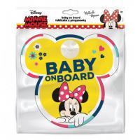 Ceduľka s prísavkou Dieťa v aute Minnie Mouse , Barva - Žltá