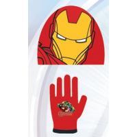 Čiapka a rukavice Avengers , Barva - Červená , Velikost čepice - 52-54