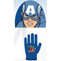 Čepice a rukavice Avengers , Barva - Modrá , Velikost čepice - 52-54