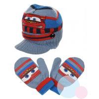 Čiapka a rukavice Cars , Velikost čepice - 48 , Barva - Světlo modrá