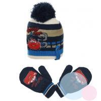 Čiapka a rukavice Cars , Barva - Tmavo modrá , Velikost čepice - 48