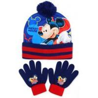 Čiapka a rukavice Mickey , Velikost čepice - 52-54 , Barva - Tmavo modrá