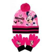 Čiapka a rukavice Minnie , Velikost čepice - 52-54 , Barva - Ružová