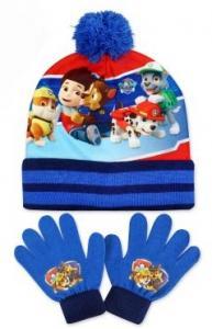 Čiapka a rukavice Paw Patrol , Barva - Světlo modrá , Velikost čepice - 52-54