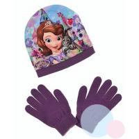 Čiapka a rukavice Princess Sofia , Barva - Fialová , Velikost čepice - 52