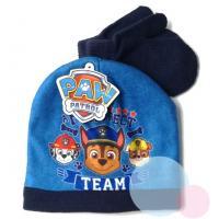 Čiapka a rukavice TLAPKOVÁ patrol baby , Velikost čepice - 50 , Barva - Tmavo modrá