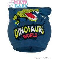 Čepice Dino , Velikost - 104 , Barva - Modrá