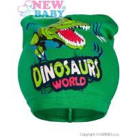 Čiapka Dino , Velikost - 104 , Barva - Zelená