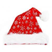 Čepice vánoční stříbrné vločky , Barva - Červená