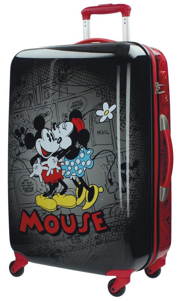 10f084381155a Cestovný kufor ABS Mickey a Minnie Retro Black