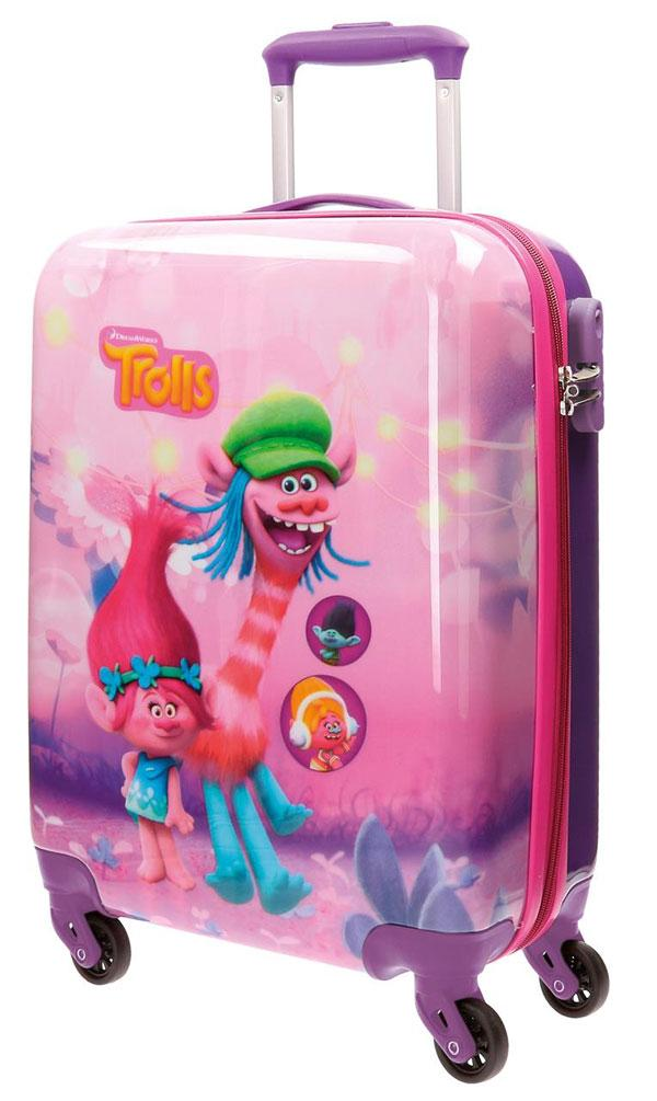 48c65e9524d9b detský cestovný kufor trollovia Barva Růžová, Velikost Uni | Nákupy ...
