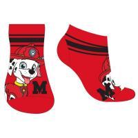 PONOŽKY PAW PATROL kotníčkové , Barva - Červená , Velikost ponožky - 23-26