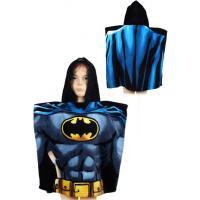 Pončo Batman , Barva - Modrá , Velikost - 55x110