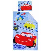 Povlečení do postýlky CARS , Barva - Světlo modrá , Rozměr textilu - 90x140