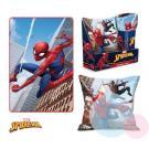 Deka a vankúš Spiderman , Barva - Modrá , Rozměr textilu - 100x150