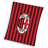 Deka AC Miláno pruhy , Barva - Černo-červená