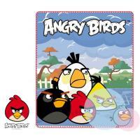 Deka Angry Birds , Barva - Světlo modrá , Velikost - 120x140cm