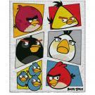 Deka Angry Birds , Rozměr textilu - 120x150 , Barva - Biela