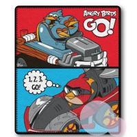Deka Angry Birds , Barva - Modro-červená , Rozměr textilu - 120x150