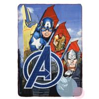 Deka Avengers , Rozměr textilu - 100x150 , Barva - Modrá