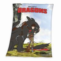 Deka Ako vycvičiť draka , Rozměr textilu - 130x160 , Barva - Tmavo šedá