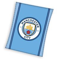 Deka Manchester City , Rozměr textilu - 110x140 , Barva - Modrá