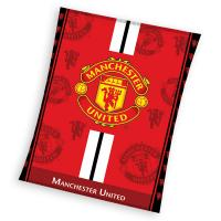 Deka Manchester United 130/170 , Rozměr textilu - 130x170 , Barva - Červená