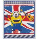 Deka Mimoni vlajka , Rozměr textilu - 125x150 , Barva - Modro-červená