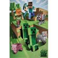 Deka Minecraft Farma , Barva - Zelená , Rozměr textilu - 130x170