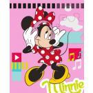 Deka Minnie Mouse , Rozměr textilu - 120x150 , Barva - Ružová