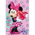 Deka Minnie srdce , Rozměr textilu - 100x150 , Barva - Ružová