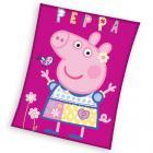 Deka Prasátko Peppa Modelka , Rozměr textilu - 110x140 , Barva - Tmavo ružová