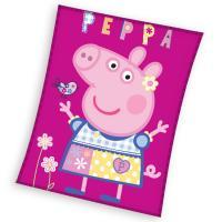 Deka Prasátko Peppa Modelka , Barva - Tmavo ružová , Rozměr textilu - 110x140