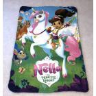 Deka Princezná Nella a jednorožec , Rozměr textilu - 100x150 , Barva - Zelená