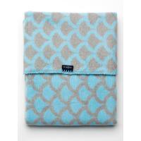 Deka so vzorom , Barva - Šedo-modrá , Rozměr textilu - 75x100