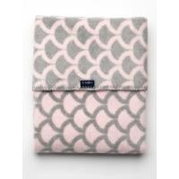 Deka so vzorom , Rozměr textilu - 75x100 , Barva - Růžovo-šedá