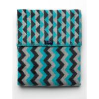 Deka so vzorom Cik-Cak , Barva - Šedo-modrá , Rozměr textilu - 75x100