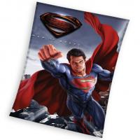 Deka Superman Man of Steel , Rozměr textilu - 110x140 , Barva - Modrá